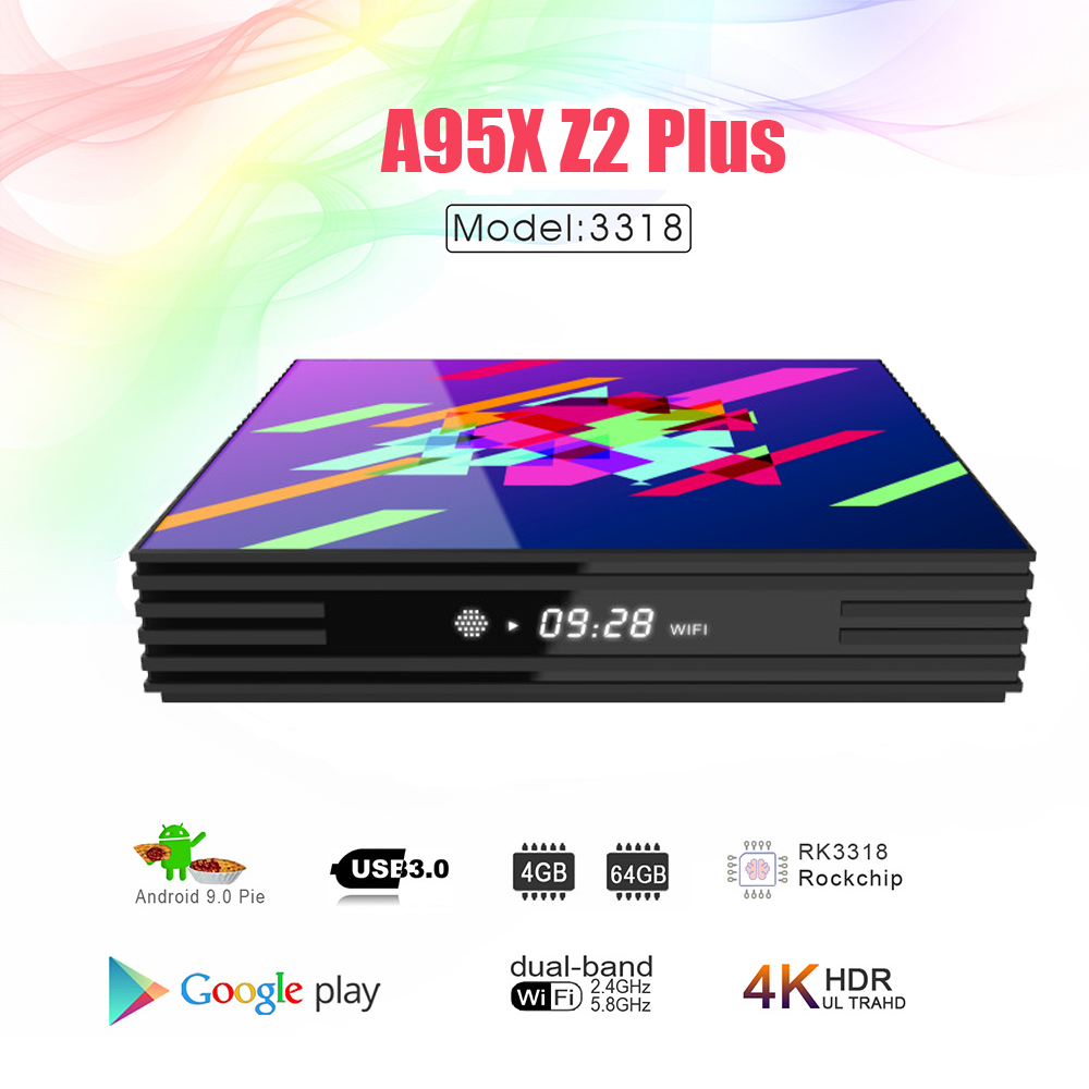 Image 2 - A95XZ2PLUS Smart tv box Android 9.0 TV Box 4GB RAM 64GB 32GB H.265 Media player 4K Google Voice Assistant Netflix Youtube tv box-in Set-top Boxes from Consumer Electronics