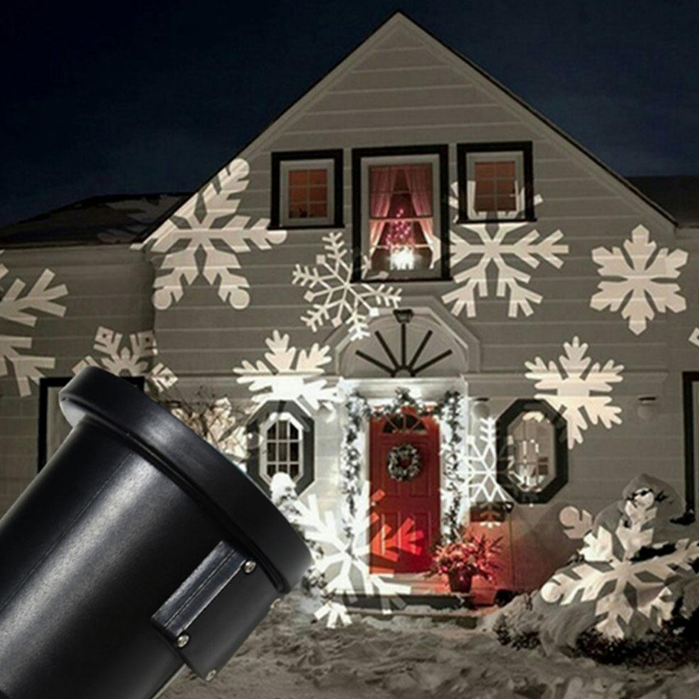 Magic Christmas White Dynamic Snowflake Projection Lamp Festival Decoration