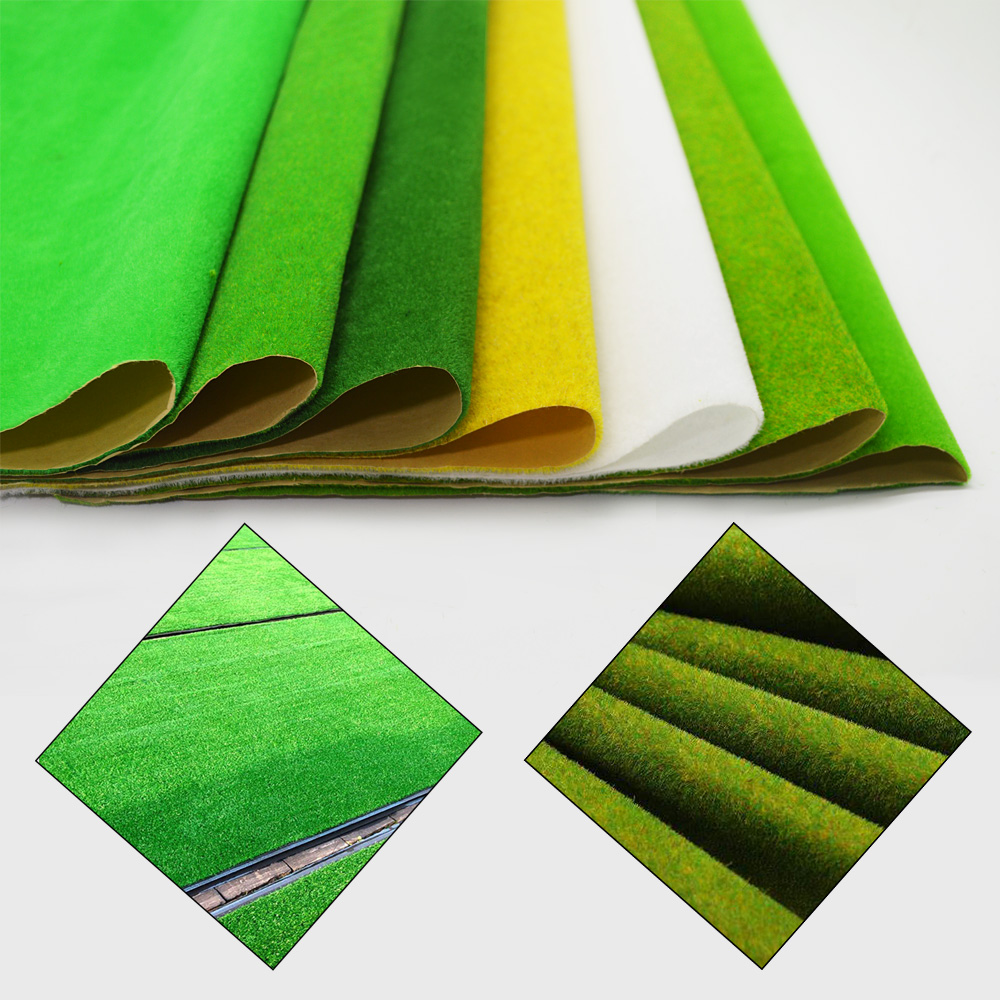 0 5x2 5m Scale 2pcs HO O N Model Carpet Grass Mat For Architectural Making Scenery Train Building Road Landscape Layout Diorama in Model Building Kits from Toys Hobbies
