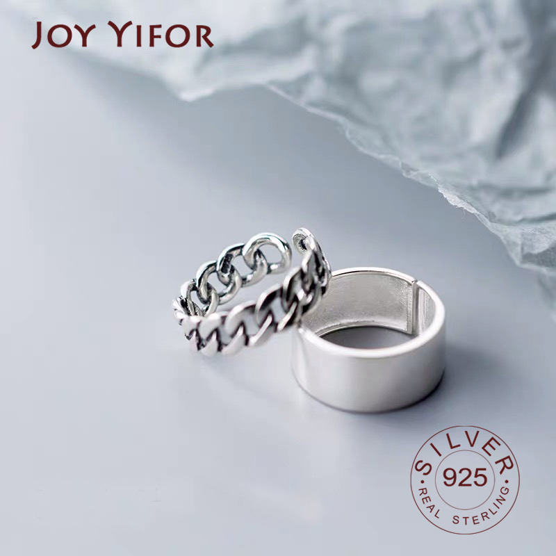 Genuine 100% 925 Sterling Silver Glitter Stackable Circle Finger Rings For Women Engagement Silver Round Jewelry