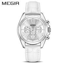 Mulheres Relógios Top de Luxo Da Marca MEGIR Relógio Pulseira de Quartzo Das Senhoras do Relógio Amantes Relogio Reloj Mujer Montre Femme Zegarek Damski