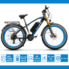 Electric Bicycle For Men Snow Mountain bike 48V 17Ah Battery 26 Inch 4.0 Fat   Tires e-Bike XF650 Big Front Fork