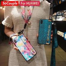 SoCouple – coque avec dragonne pour Huawei, compatible modèles Honor 20, 10i, 30 Pro, Nova 5t, 3i, P30, P40, P20 Lite, Mate 20, 30 Pro
