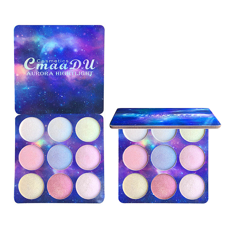 9 Color Waterproof Eye Shadow Unique Diamond Sequins Pearl Star Eyeshadow Tray Durable Powder Palette Sparkling Eyes Makeup