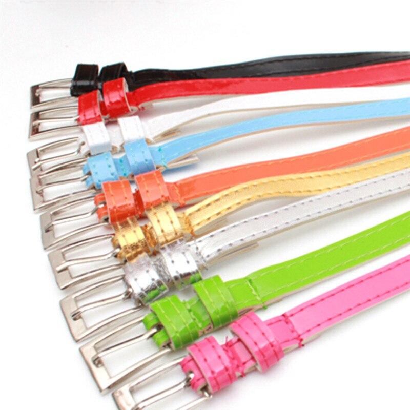 1 Pcs Fashion Women Skinny Waist Belt Lady Girl Thin Leather Narrow Waistband Belt