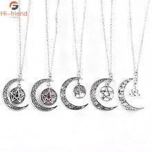 SC Fashion – collier pentagramme surnaturel des Forces maléfiques, Protection des sorcières, amulette étoile Yggdrasil, arbre de vie