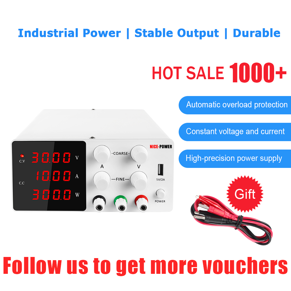 120V 3A 30V 10A 60V 5A DC Switching Lab Power Supply Adjustable LCD 4 Digits Laboratory Source For Phone USB interface 5V 2A-1