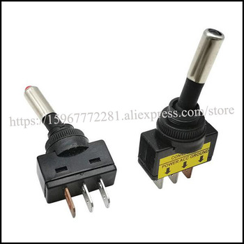 Rocker Switch ASW-15D LED auto switch Light switch warped plate boat headlight switch 12VDC 20A SPST 3P ON-OFF with LED