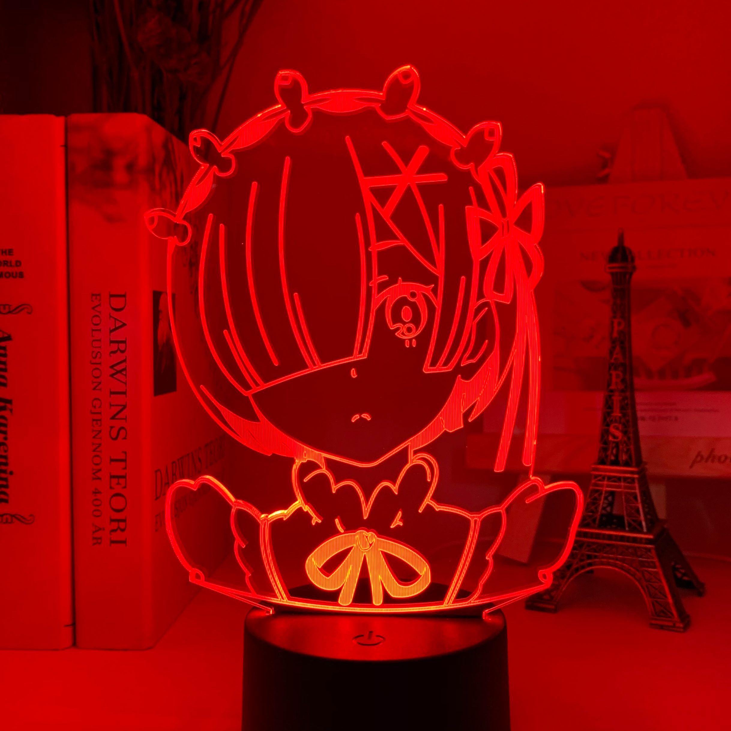 H13cb5f61b3784a06b6ac56f7986640c3V Luminária Anime rem re zero starting life in another world figura luz da noite led sensor de toque mudança cor do bebê nightlight para decoração do quarto lâmpada mesa 3d manga presente