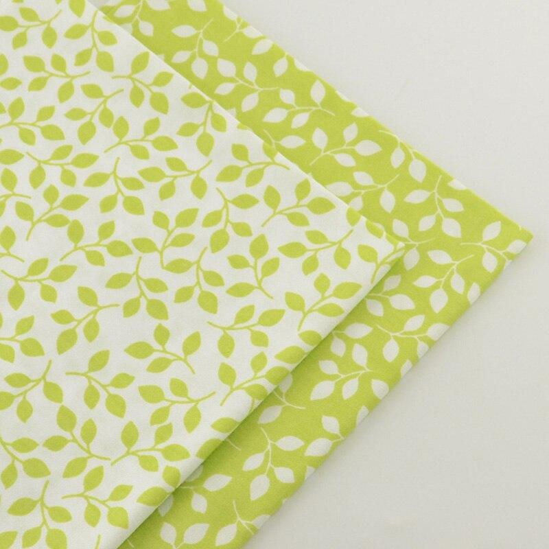 2 pieces green 40cmx50cm Cotton Fabric quilting tissue tecido tida Sewing fabrics for patchwork cheap tecidos para roupa