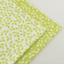 2 個グリーン 40 センチメートルx 50 センチメートル綿生地キルティングティッシュティーダ縫製生地パッチワーク安いtecidos tecidoパラroupa