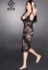 Image 3 - 1/12 TBL PHICEN Action Figure Clothes Lace Dress Black/White Color