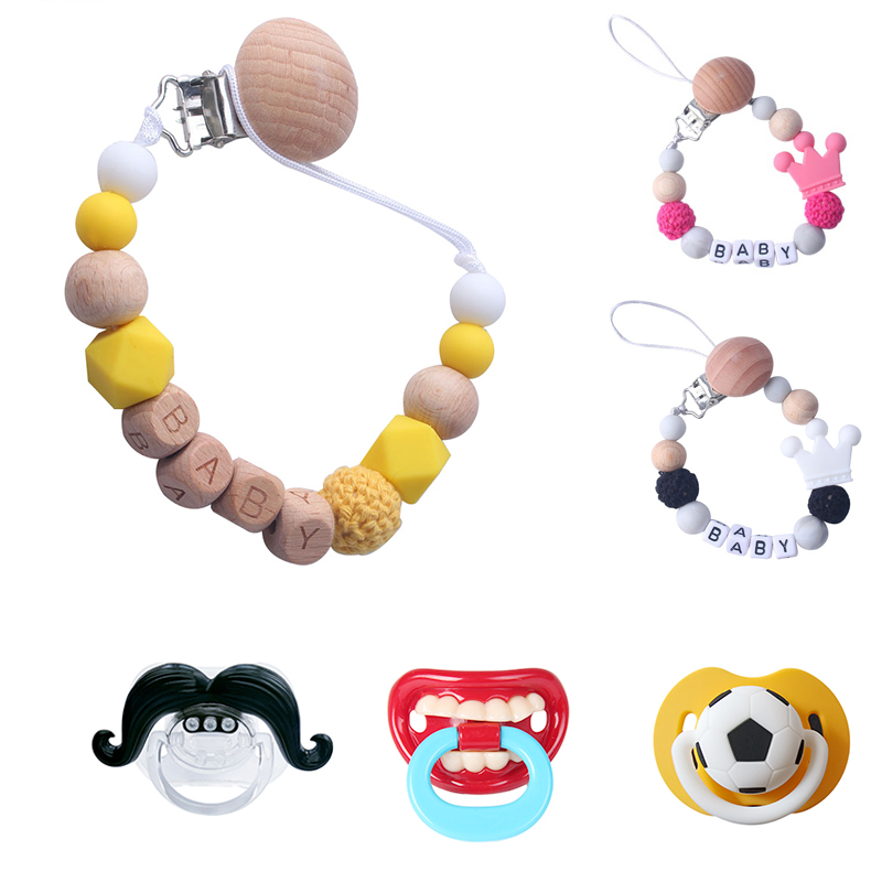 Silicone Pacifier Chains Safe Teething Chain For Infant Baby Teether Pacifier Clips Holder Chain Cute Soother Baby Chew