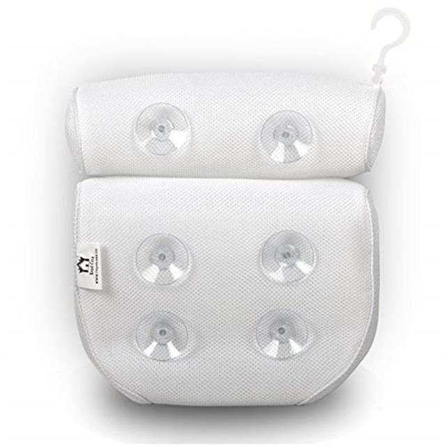 SPA Bath Pillow with Suction Cups Neck and Back Support Headrest Pillow Thickened for Home Hot Tub Bathroom Cushion Accersories 5
