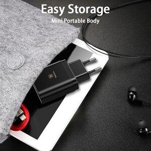 Image 5 - Baseus 3 Ports USB Ladegerät Schnell Lade 3,4 EINE Wand Ladegerät EU Stecker Mit Digital Display Reise Schnelle Ladegerät Für samsung Huawei