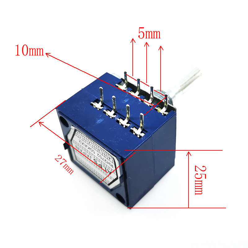 Image 3 - 1PCS RH2702 Dual unit Rotary Potentiometer  50K 100K 250K DIP8 ALPS-in Potentiometers from Electronic Components & Supplies