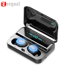 F9 Wireless Sports Earphones LED Power Display 8D Surround Stereo Sound Dual Bluetooth V5.0 Earbuds With Charging Box Headset