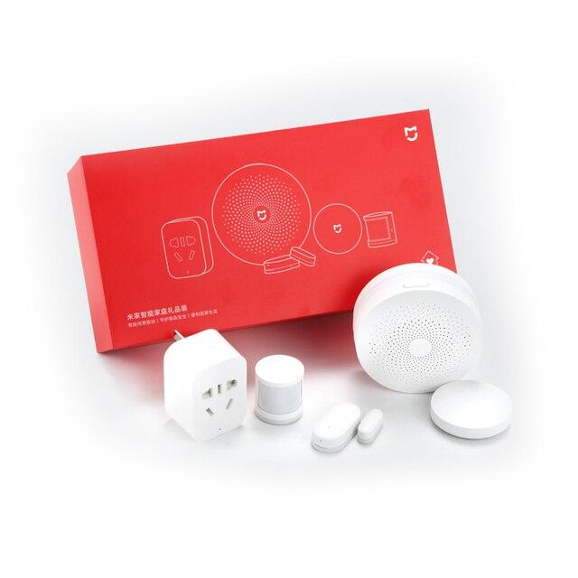 Xiaomi Mijia-Sensor de puerta y ventana para el hogar, Kit de seguridad inteligente 5 en 1, inalámbrico, interruptor Zigbee 4
