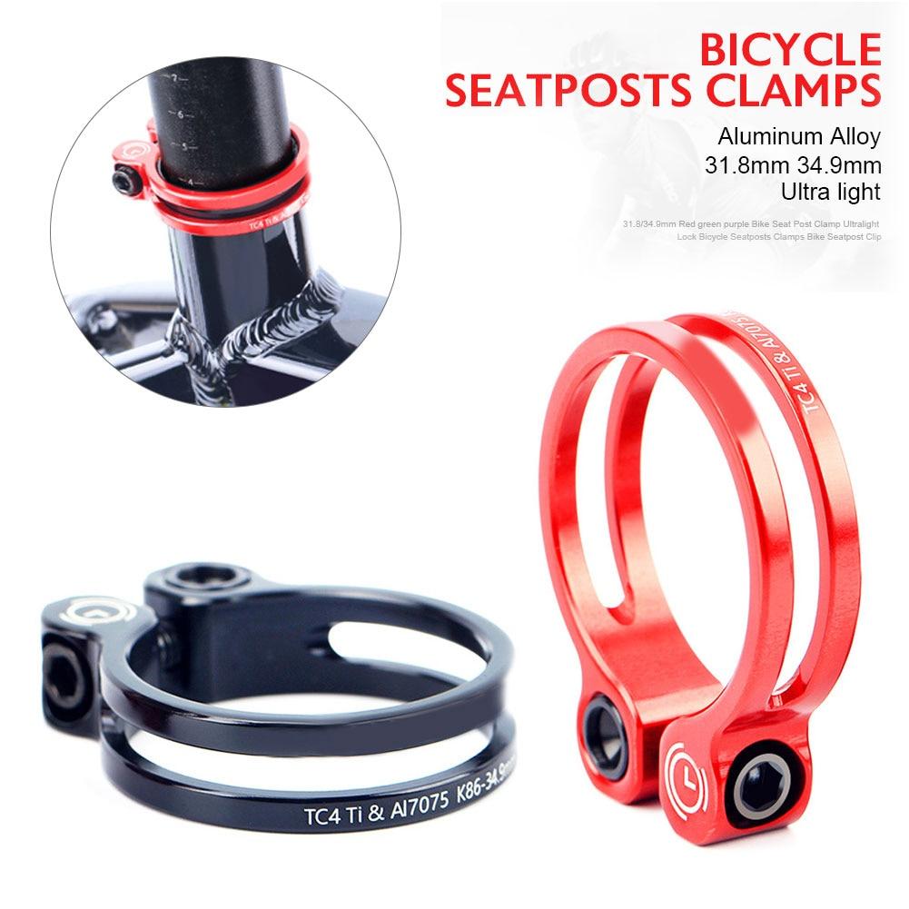 31.8/34.9mm Seatpost Clamp MTB Road Bicycle Seatpost Clamp With Aluminum Body+Titanium Screw Bicycle Parts