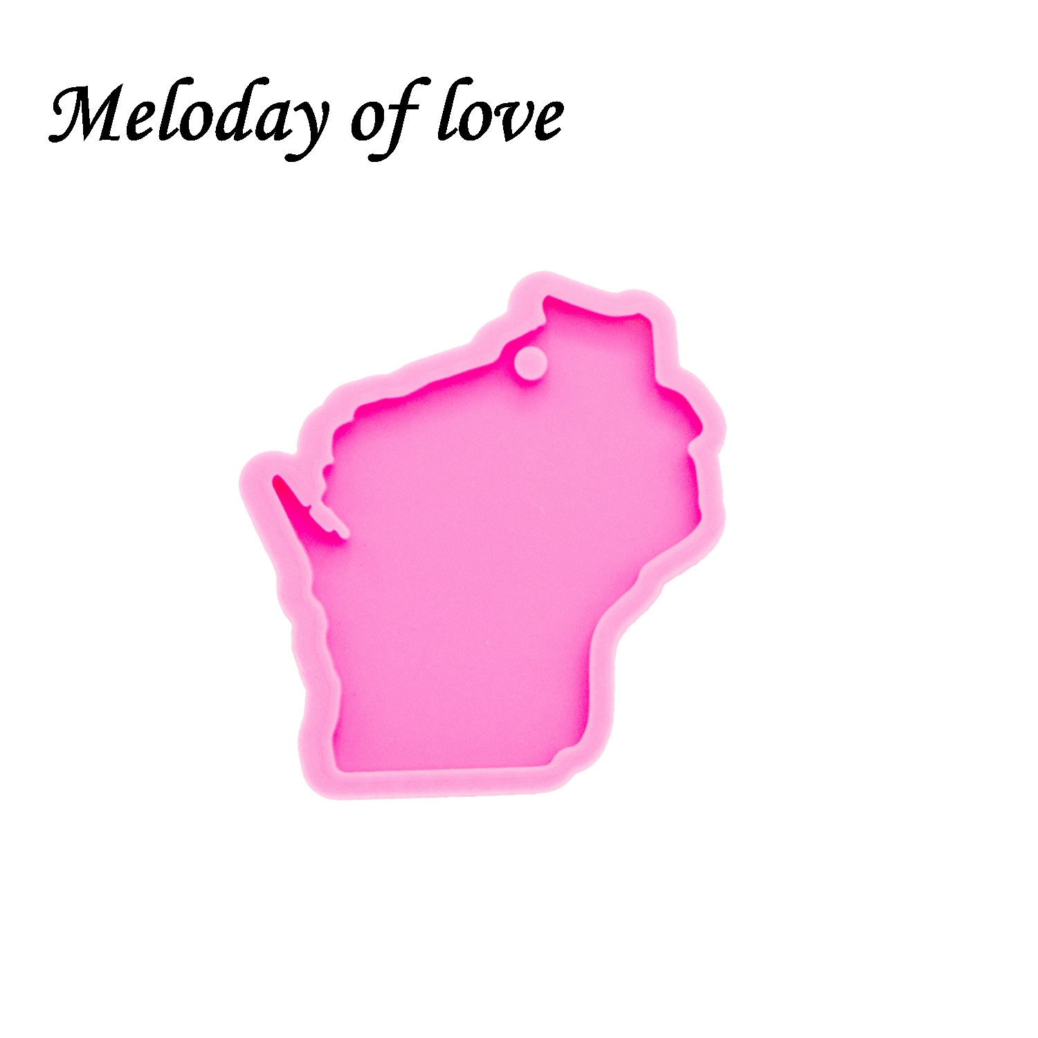 Minnesota State Map Shiny Silicone Mould DIY Epoxy Keychain Resin Craft Mold