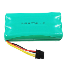 цена на 14.4V Ni-MH AA rechargeable battery cell Pack 2500MAH for Ecovacs Deebot Deepoo X600 ZN605 ZN606 ZN609 Vacuum Cleaner Robot