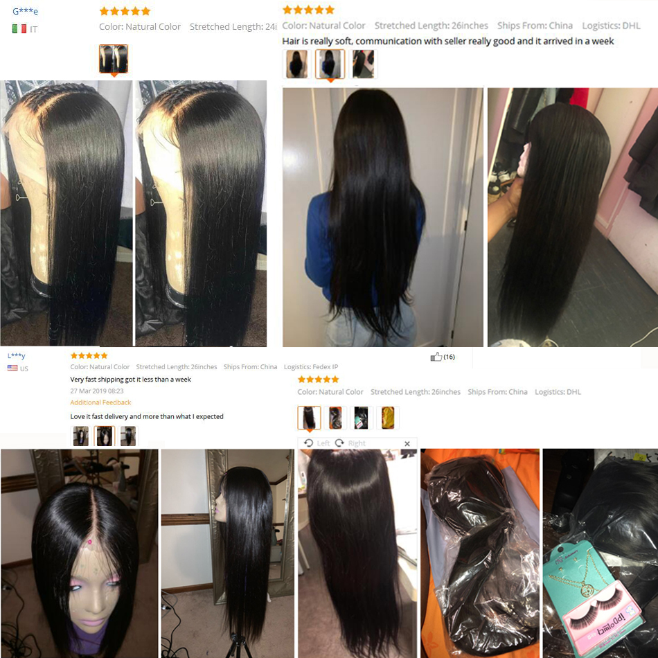 13x4/13x6 Straight Lace Front Human Hair Wigs 360 Lace Frontal Wigs Remy Brazilian Human Hair Lace Wigs for Women 250 Density 6