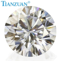 New store sales promotion 6.5 mm GH color white Round Brilliant cut moissanite loose gems stone