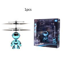 Robot Suspension Induction Aircraft Children'S Suspension Toy Lighting Toy Helicopter Flying Toy Rechargeable Drone(China)