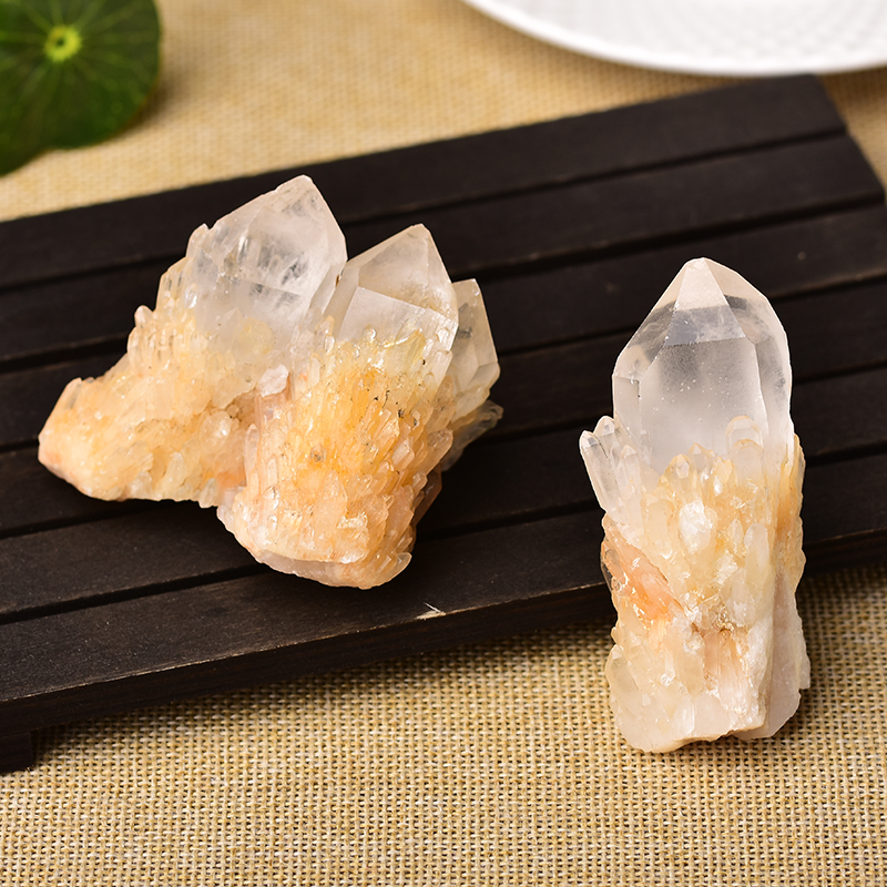 Natural Raw Quartz White Clear Crystal Cluster Healing Stones Crystal Point Specimen Home Decoration Raw Crystals Minerales