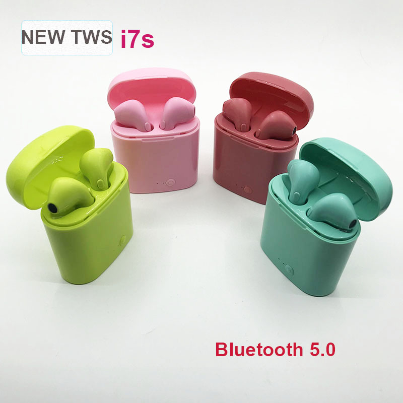 New Color i7s <font><b>TWS</b></font> pk i12 <font><b>tws</b></font> wireless Earphones <font><b>bluetooth</b></font> 5.0 Headsets Earbuds PK i13 i14 for iphone samsung galaxy ear buds image