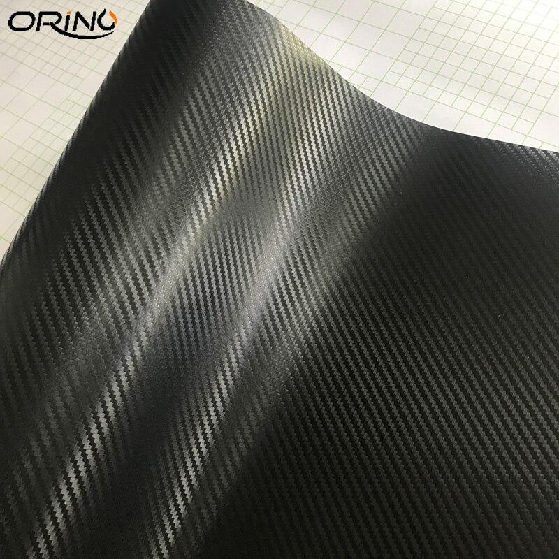 Black 3D Carbon Fiber Vinyl Wrap Sticker-5