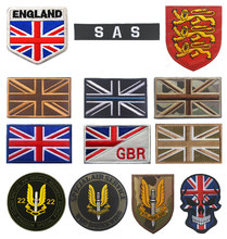 Reino unido bandeira bordado remendo sas exército britânico remendos militares tático emblema apliques uk bordados emblemas