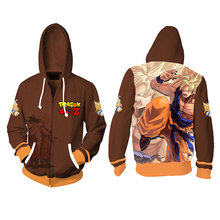 Foreign trade new style Qilongzhu 3D printed sanitary wardrobe Cosplay animation peripheral cardigan and hooded sweater