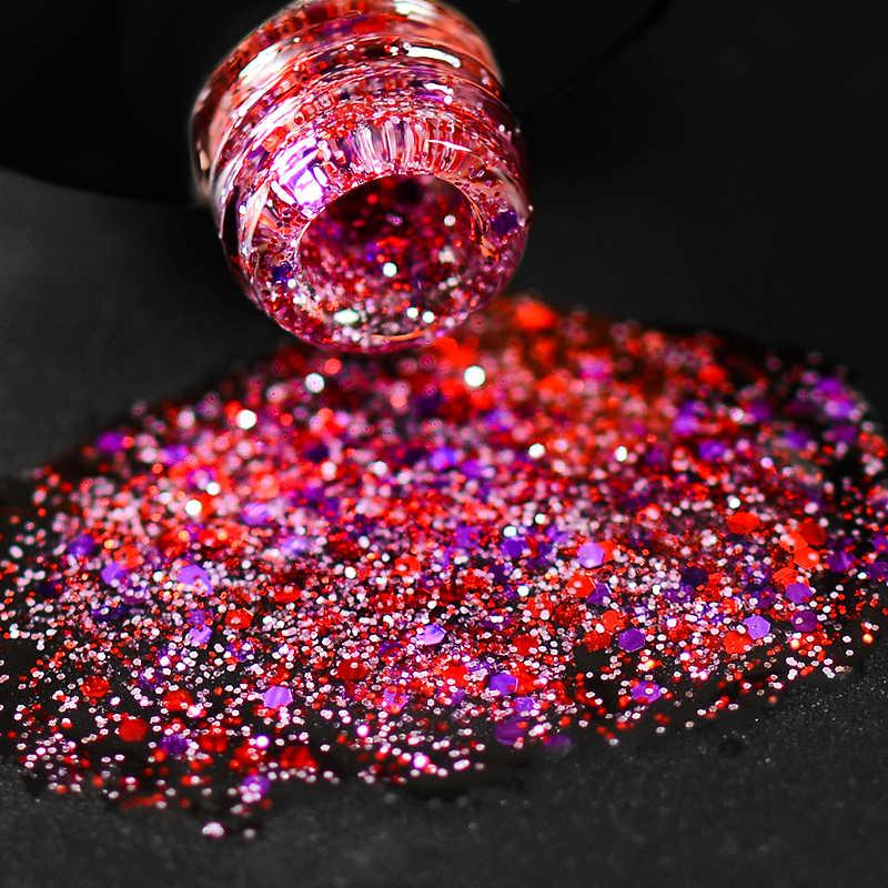 Mtssii a la venta 8ML Nail pulido holográfico platinado con brillo esmalte de uñas de gel uv brillo manicura Soak Off nail Art barniz