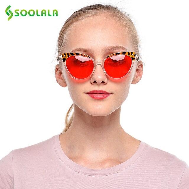 SOOLALA TR90 Cat Eye Reading Glasses With Anti Blue Light Women Men Semi-Rimless Presbyopic Reading Glasses Protection Computer 1
