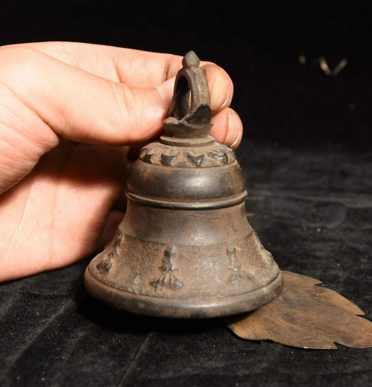 Decoración de boda antiguo Budismo Tibetano templo bronce campana colgante Zhong campana estatua - 3