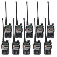 лучшая цена 10 Pcs BAOFENG UV-5RE Dual Band Amateur Handheld Two Way Radio FM Ham walkie Talkie