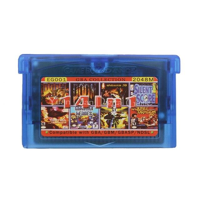 Voor Nintendo Gba Video Game Cartridge Console Kaart Collectie Engels Taal EG001 14 In 1