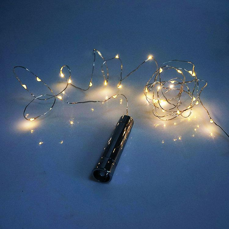 1.5M 15LED Copper Silver Wine Bottle LED String Lights Holiday Lighting For Fairy Christmas Tree Wedding Bar Party Decoration