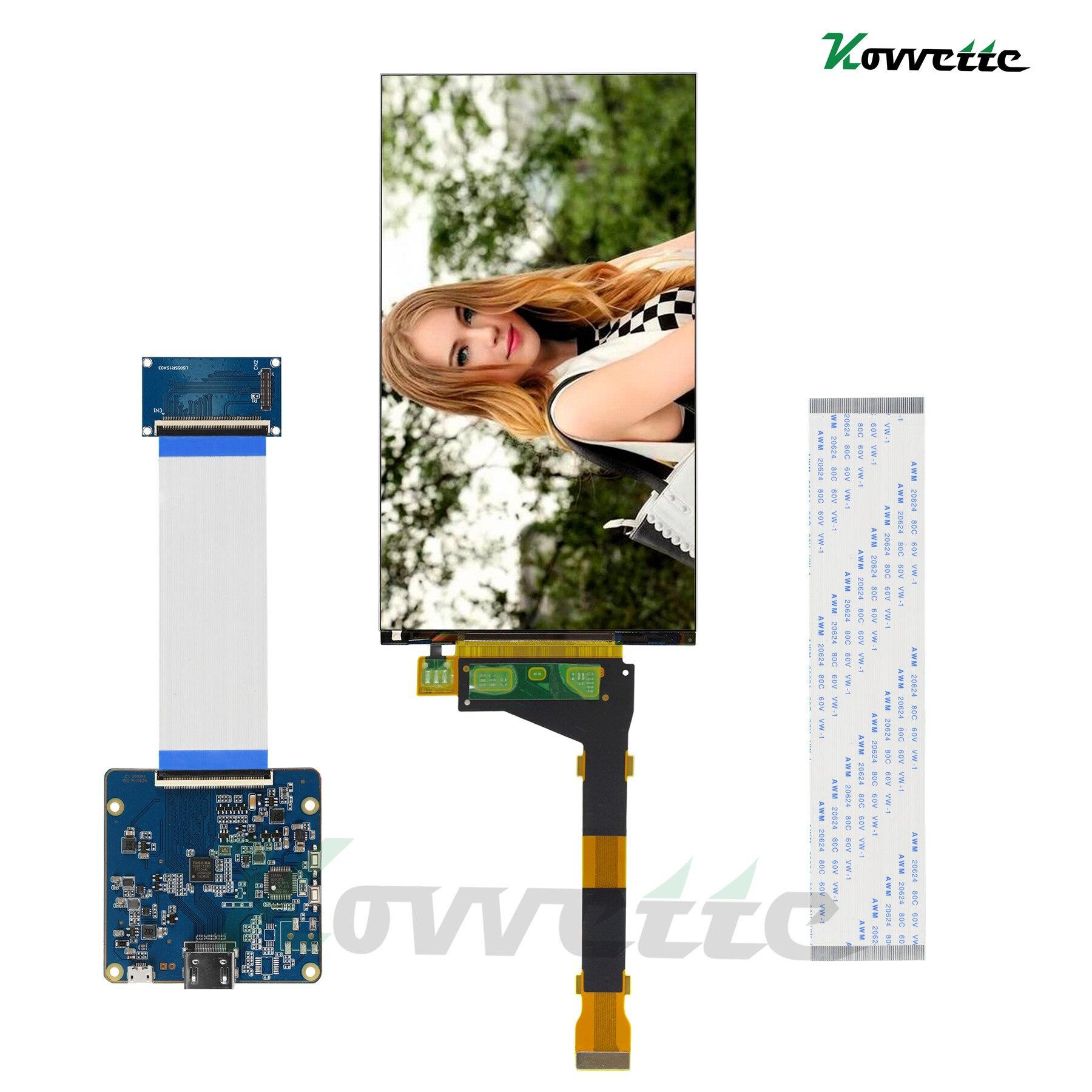 3,5-дюймовый ЖК-экран 2560*1440 2K LS055R1SX04, ЖК-монитор MIPI для платы HDMI для ЖК-монитора Wanhao d7 plus
