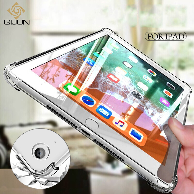 Shockproof Silicon Case For IPad Air 2 Air 1 9.7 2017 2018 Pro 10.5 9.7 10.2 11 Case Soft Cover For IPad Mini 2 3 4 5 Ipad3 Air2