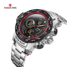 Mens Watch Quartz Luxury Fashion Sports LED Waterproof Stainless Steel Clock Relogio Masculino 2019