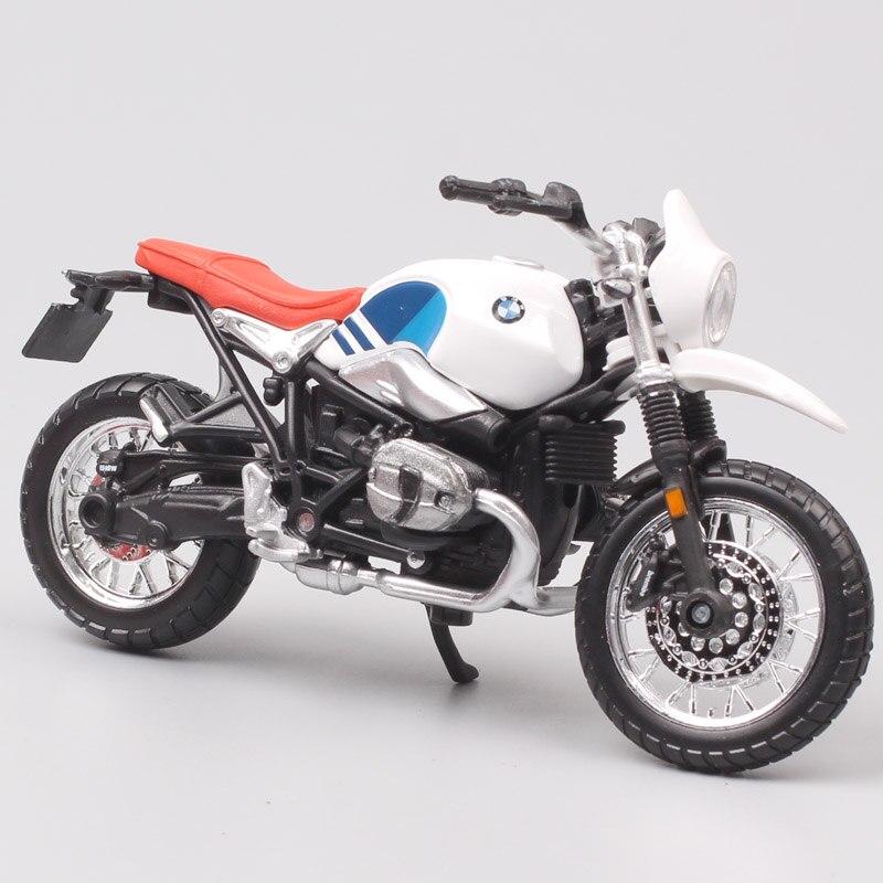 Clássicos bburago 1:18 escala crianças r ninet urbano gs cruiser motocicleta retro roadster bicicleta diecast modelo de brinquedo veículos réplica