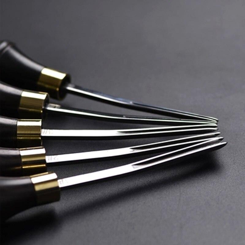 DIY кожевенное ремесло кромка скошенная деревянная ручка режущая кромка скошенная кожа ремесленные инструменты C66