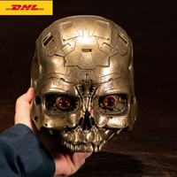 Terminator T 800 Robot Head Statue 24cm Box Packed Metal Action Figure Collection Model Toys Y1126