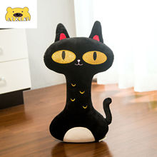 Black Long Neck Cat Stuffed Toys Kawaii Plush Toys Cat Lovely Kawaii Pillow Cartoon Soft Toys for Children Girls Christmas Gift cheap AIXINI Other 3 years old Unisex Keep away from fire Popular Plush Pillows
