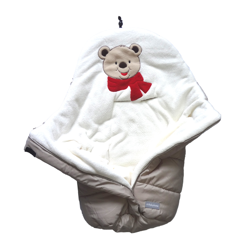 Winter Warm Baby Stroller Sleep Sacks Fleece Baby Stroller Sleeping Bags Waterproof Baby Bedding Blankets Newborns Swaddle Wrap
