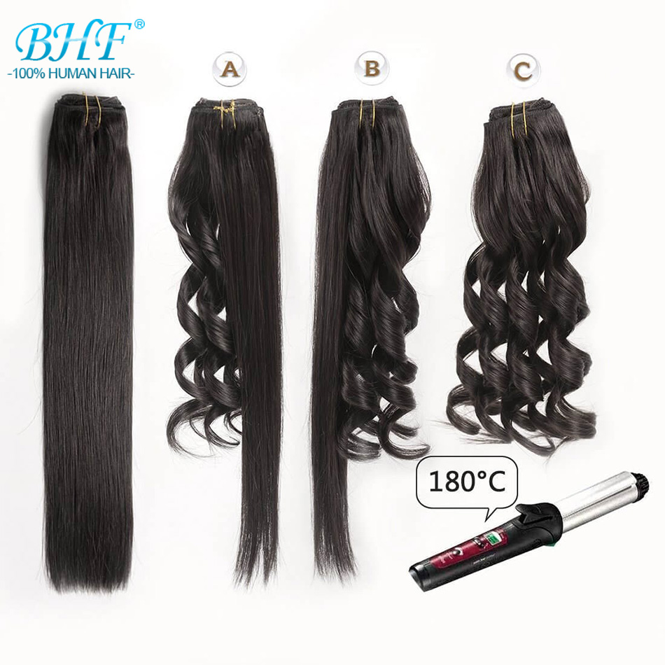 Ponytail Human Hair Remy Straight European Ponytail Hairstyles 60g 100% Natural Hair Clip in Extensions by BHF