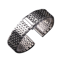 OTMENG Ultra-thin Stainless Steel Strap 16mm 18mm 19mm 20mm 22mm High Quality Men/Women Suitable for Various Brands Watch Band