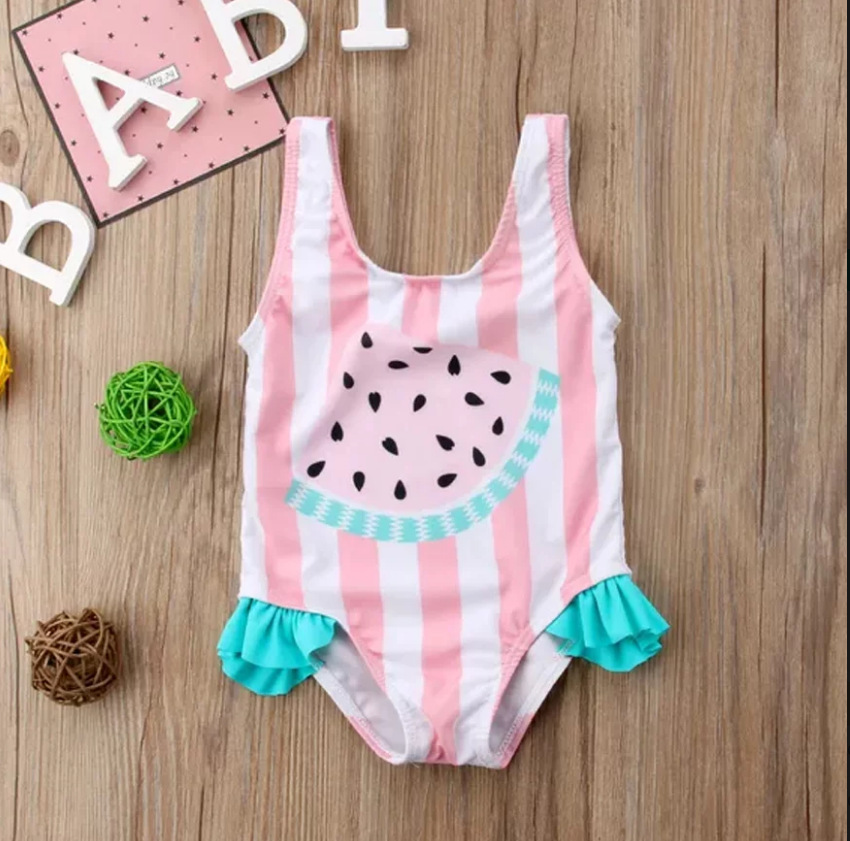 Cute Children One-piece Swimwear Europe And America AliExpress Hot Selling CHILDREN'S Small CHILDREN'S Bathing Suit Foreign Trad